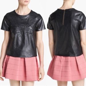 Nordstrom ASTR Top size M. Faux leather top.